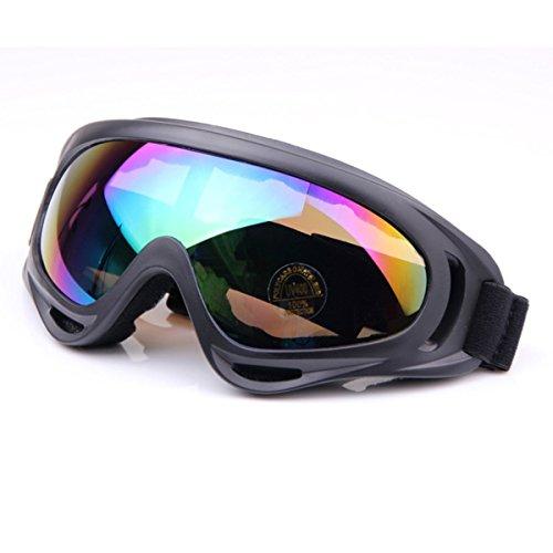TININNA Winddicht Snowmobile Gletscherbrille Fahrrad Skibrille Schutzbrille Sportbrille Bunt