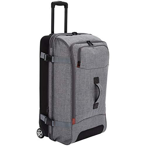 AmazonBasics - Reisetasche mit Rollen, Groß, Grau