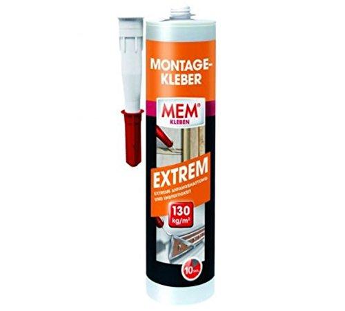 MEM Montage-Kleber Extrem 380 g - Für Beton, Mauerwerk, Putz und Holz