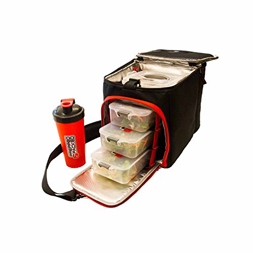 Prepped & Packed Apollo Meal Bag, 2 kg, Black and Red