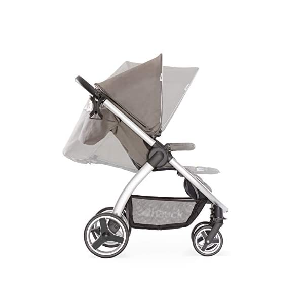 Hauck Lift Up 4, Lightweight Pushchair from Birth to 25 kg, Quick Fold with One Hand with Lying Position, Telescopic, Height-Adjustable Push Handle, Cup Holder, Charcoal Hauck EASY FOLDING - Thanks to its One-Hand-Fold mechanism, this pushchair is folded away within seconds up to a small size. This can be easily transported by the carry strap, leaving one hand free for your little one LONG USE - This buggy can be used over a long period of time as it is suitable from birth thanks to lying position and up to 25 kg. It can also be combined with the hauck Comfort Fix infant car seat + adaptors or hauck 2in1 Carrycot COMFORTABLE - Thanks to backrest and footrest beign adjustable into lying position which is suitable for bigger children, too, as well as large sun hood with UV protection and height-adjustable, telescopic push handle 2