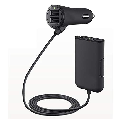 FSM88 Chargeur de Voiture, Adaptateur d'allume-Cigare de Voiture USB, avec 12V pour Apple, matériel ABS/Samsung 4.8A à Double Port USB, Chargement Rapide.