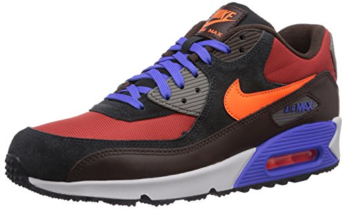 Nike Air Max 90 Winter Premium, Baskets mode homme, Multicolore (Red Clay/Hyper Crimson/Blck Pn 600), 41 Multicolore (Red Clay/Hyper Crimson/Blck Pn 600)