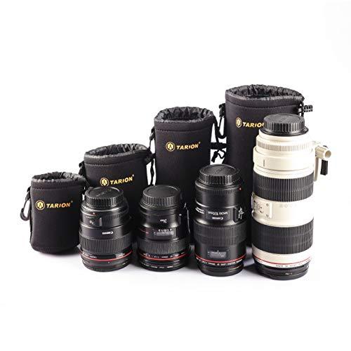 TARION S+M+L+XL 4 tamaño lente bolsa/fonda cordón