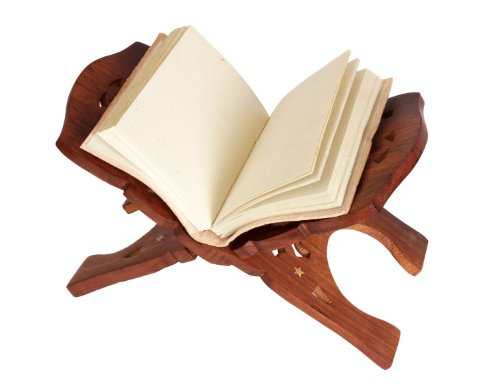 A Folding Book Stand Holder Made From Mango Wood Beautifully & Intricately Hand Carved Birthday or Housewarming Gift Ideas for Men Women by Store Indya