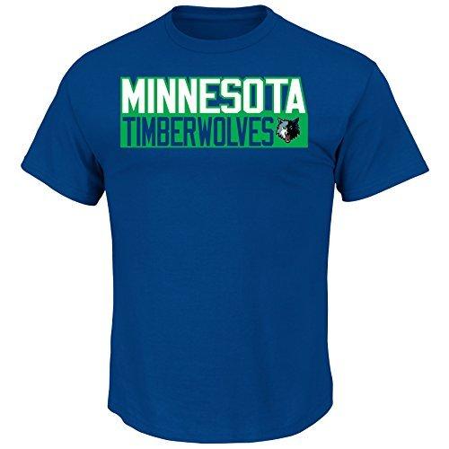 Majestic Athletic Andrew Wiggins Minnesota Timberwolves # 22NBA Herren Vertikal Name & Nummer T-Shirt Blau, Erwachsene Unisex Jungen Damen Herren, Blau, XLarge