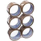 6 rolls of Brown Parcel Packaging Tape