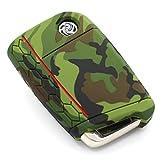 Schlüssel Hülle VB für 3 Tasten Auto Schlüssel Silikon Cover - Finest-Folia Schlüsselhülle Etui Schutzhülle (Camouflage)