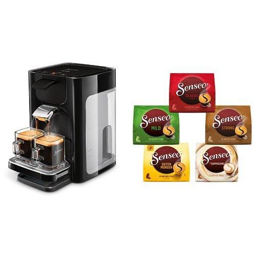 Philips Senseo HD7865/60 Quadrante Kaffeepadmaschine, XL-Wassertank, schwarz mit Senseo...