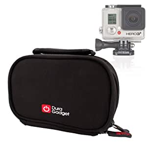 Durable Black Camcorder Carry Case Compatible With GoPro HD Hero Headcams Including GoPro HD Hero 3, GoPro HD Hero, GoPro HD Helmet Hero & GoPro Camera HD Hero 2 Outdoor Edition - by DURAGADGET
