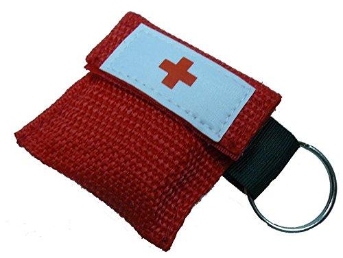 10x Set Beatmungsmaske Beatmungstuch Beatmungsfolie rot CPR Maske