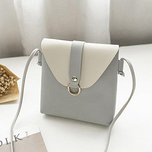 ZHANGJIA Frauen - Taschen, Sommer - Mode - Trend Einer umhängetasche, Kleine Taschen, Bam, Farben, Süßen Mini - Taschen,Hellgrau Einfachheit (Bam Taschen)