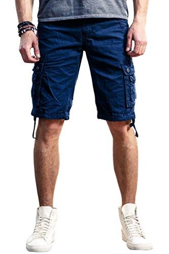 INFLATION Casual Herren Cargo Shorts Cargohose Kurze Hose Sommer Shorts Blau (Casual Cargo-shorts)