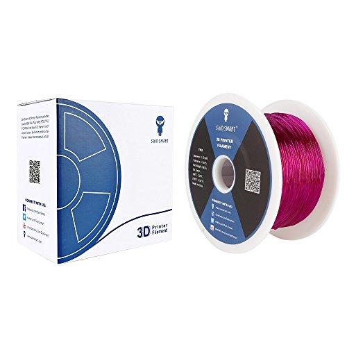 Filament 3D SainSmart flexible pour imprimante 3D, 1,75 mm, 800 g Spool (Violet)