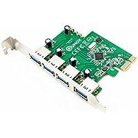 Qumox PCI-Express To Usb 3.0 Superspeed PCI-E Card 4-Port Expansion Card Interface USB 3.0 4-Port Express Card Desktop