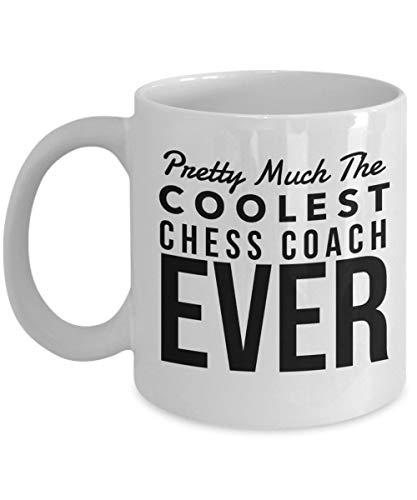 Dozili Lustige Kaffeetasse – Geschenk für Chess Coach – Pretty Much The Coolest Ever-Kaffeetasse, Neuheit Geburtstag, Dankeschön-Ideen, 325 ml, Weiß