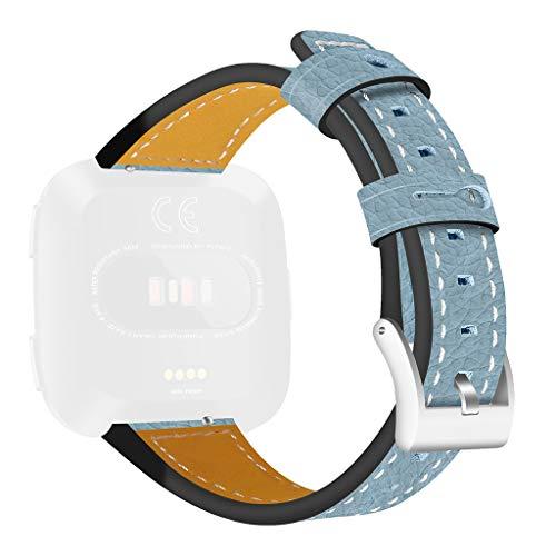 Cinturino per Fitbit Versa, accessorio per smartwatch in pelle con intaglio a fiore, cinturino di ricambio per uomini e donne 20x5x1cm azzurro