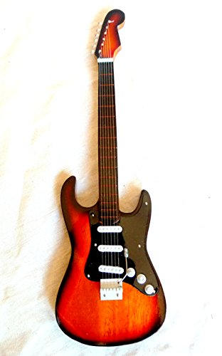 Miniatur Gitarre Deko Gitarre Guitar Fender Stratocaster 24 cm sunburst #146