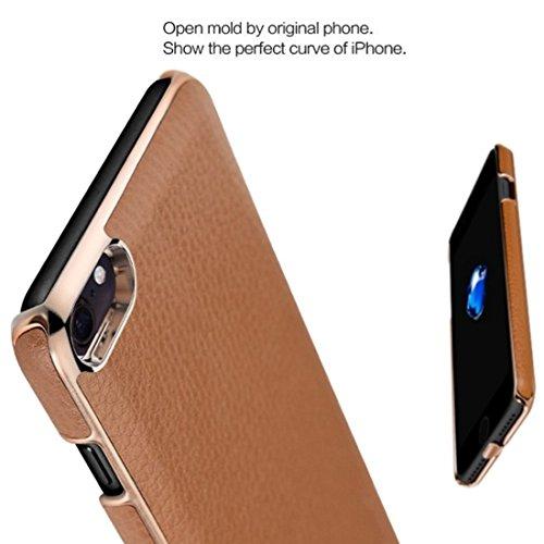 Mobiltelefonhülle - NILLKIN 2 in 1 N-JARL Case für iPhone 7 Litchi Texture PU Skin PC Schutzhülle mit QI Standard Wireless Ladegerät ( Farbe : Rot ) Schwarz