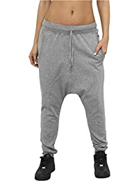 Urban Classics Damen Ladies Light Fleece Sarouel Pant Jogginghose Pants, Farbe:GREY;Größen:L