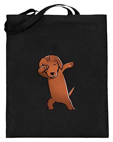 l Jagdhund Hund Rasse Süß Dab - Schlichtes Und Witziges Design - Jutebeutel (mit langen Henkeln) ()