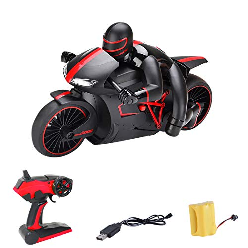 TETAKE Ferngesteuertes Motorrad, 4-Kanal RC Auto mit 2,4 GHz Fernbedienung, 2 Rädern 20 km/h High Speed Funkfernsteuerung Elektro Drift Motorräder für Kinder und Erwachsene