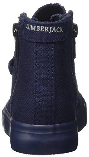 Lumberjack Phillie, Sneaker a Collo Alto Bambino Blu (Navy Blue)