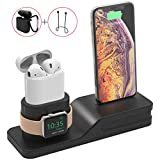 Splaks Apple Watch Stand, Supporto per Dock di Ricarica per Apple Watch e Docking Station Supporto per Docking per iPod iPhone e Altri Tablet (Supporto per iPhone iWatch Airpos in Silicone)