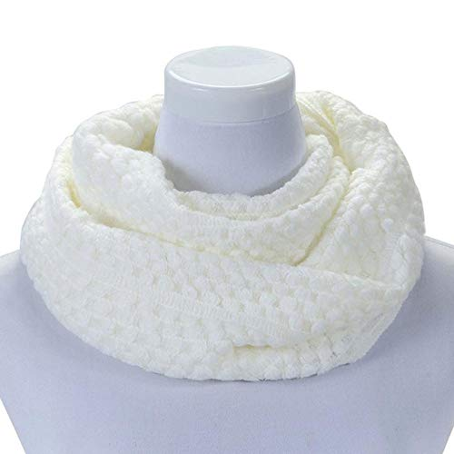 TDPYT Schal Gestohlen Kopftuch Luxus Schals Für Frauen Winter Warm Circle Cable Knit Long Scarf-F (Knit Circle Scarf)