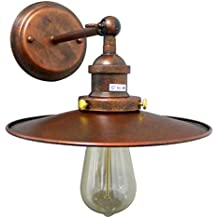 MOOOY Iluminación industrial lámparas de estilo estilo loft dia 22cm metal lampshade escalera aisle Rust color