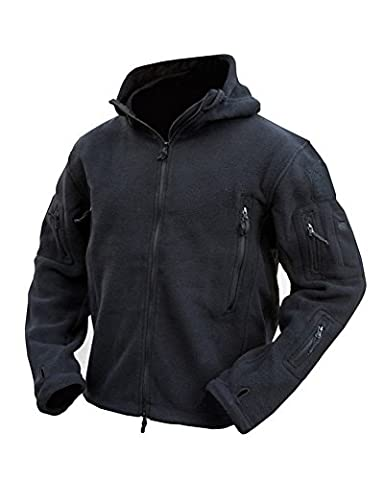 Military Forces Unisex Adult Tactical Recon Hoodie - Black - Military Personnel Cadets Air soft Paintball (M)
