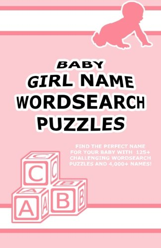 Baby Girl Name Wordsearch Puzzles
