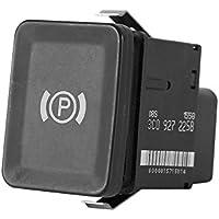Qiilu Interruptor de freno de estacionamiento electrónico de estacionamiento Botón de freno
