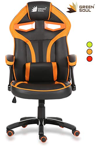 Green Soul Alien Series Gaming/Desk Chair in PU Leather and...