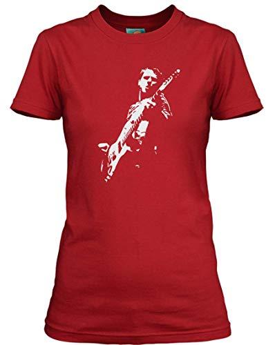 Matt Bellamy Muse Inspired, Damen T-Shirt, Large, Rot