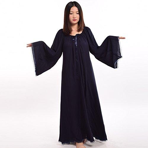 BLESSUME Damen Mittelalterlich Renaissance Kleid Kleid Schwarz