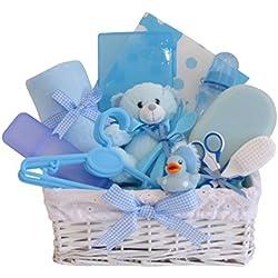 Belle Deluxe bolsa de regalo cesta/Baby Boy/de regalo bebé canastilla bebé/bebé ducha regalo/regalo para recién nacido/rápido envío