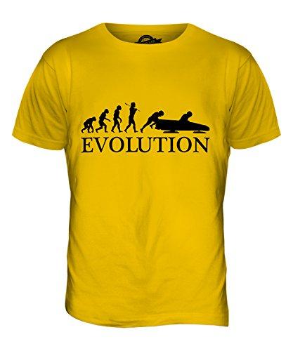 CandyMix Bobsport Bob Evolution Des Menschen Herren T Shirt Dunkelgelb