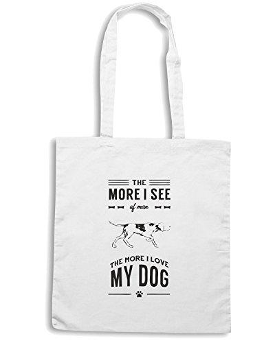 T-Shirtshock - Borsa Shopping CIT0063 Dog Lover Bianco