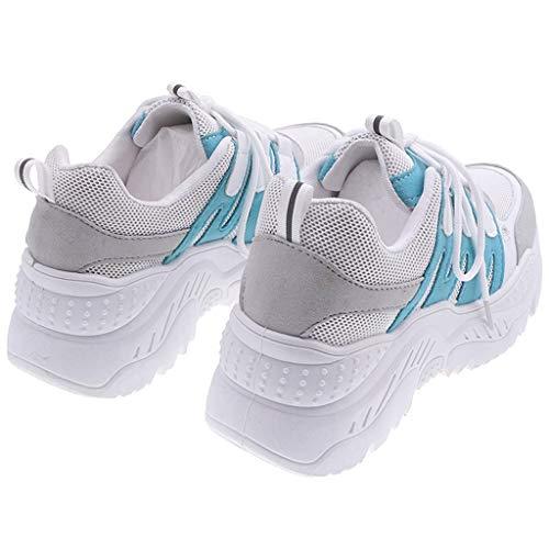 Damen Mesh Turnschuhe,Sportschuhe,Sneakers,Laufschuhe,Joggingschuhe,Trainingsschuhe,Outdoor Schuhe Casual Mode Arbeitsschuhe Air Atmungsaktiv URIBAKY