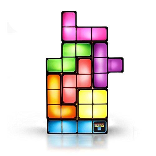 Tetris Leuchte Tischlampe das Gamer Geschenk 7 Tetriminos frei kombinierbar Kunststoff