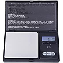 STRIR Balanzas digitales de precisión,100g/0.01g Balanzas de pesaje portátiles con pantalla
