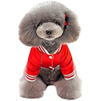 Ropa para Mascotas, Gusspower Chaqueta de Algodon Ropa de Abrigo Invierno Uniforme de Beisbol cálido cómodo para Mascotas Gato Perro