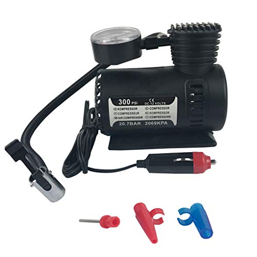 Morelyfish 12V 300PSI rápido Que infla el Coche eléctrico Compacto Mini compresor de Aire de la Bici de la Bomba para inflar con Aire del neumático Cama Globo