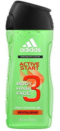 Frische Minze Gel (adidas Active Start 3in1 Duschgel für Herren, 250 ml)