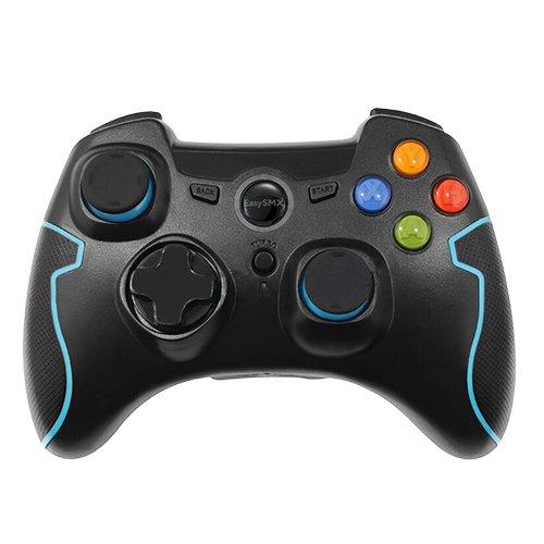 Price comparison product image EasySMX Wireless 2.4g Game Controller Support PC (Windows XP/7/8/8.1/10) and PS3, Android, Vista, TV Box Portable Gaming Joystick Handle Black and Blue