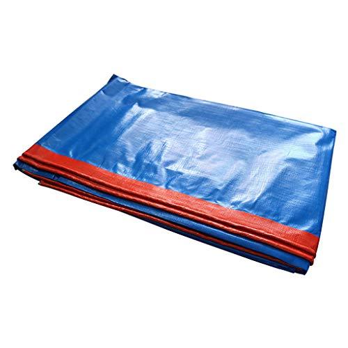 KWEE Gewebeplane Abdeckplane Ösen, Plane aus Polyethylen, Wasserdicht und Reißfest, 170g/m2, Blau,6x12Ft/2x4m -