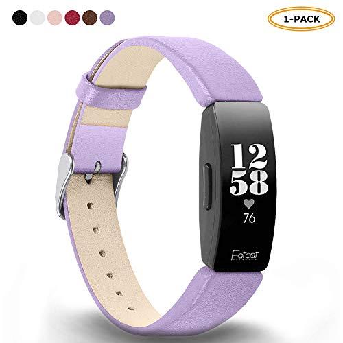 FatcatBand Kompatibel für Fitbit Inspire & Fitbit Inspire HR Armband, Echtes Leder Wrist Strap Band Ersatz Armbanduhr Schlaufe Armbänder für Fitbit Inspire & Fitbit Inspire HR -