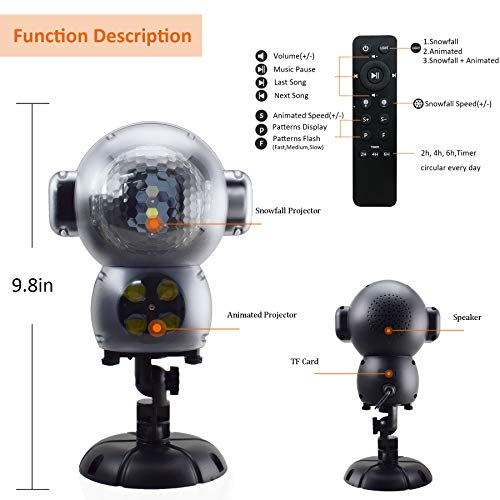 Jeenso Snow Falling Animated Projector Outdoor Halloween