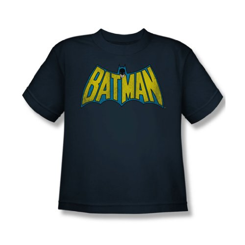 Batman - Classic Logo Jugend Kurzarm T-Shirt in Navy von DC Comics, X-Large (18-20), Navy (Batman-logo-jugend-t-shirt)